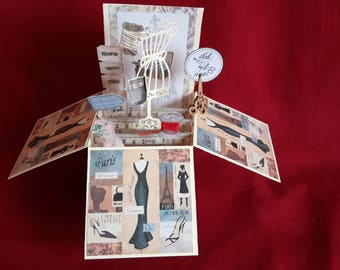 Pop up sewing notions card