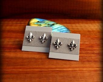Fleur de lis post earrings, Fleur de lis jewelry