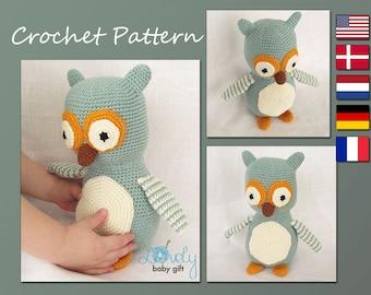 Amigurumi Pattern, Crochet Owl Pattern, Stuffed Animal Pattern, CP-123