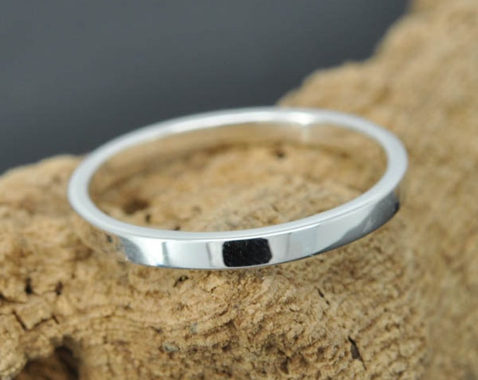 14K palladium white gold ring, 1 mm, flat, wedding band, wedding ring, square, his and hers, mens ring, size up to 9