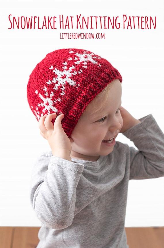 Baby Snowflake Hat KNITTING PATTERN / Snowflakes Pattern