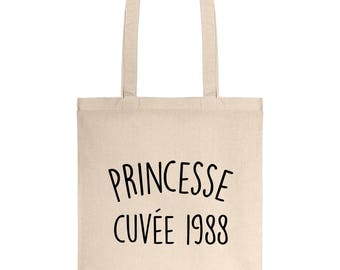 Vintage Princess canvas 1988 30 cotton gift bag