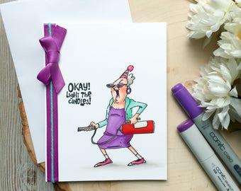Funny Birthday Card Happy Humorous Handmade