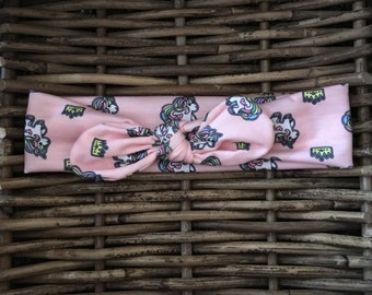 Unicorns Organic Fabric Hairband