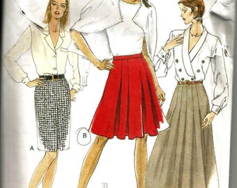 Vogue 9318 uncut vintage size 6 - 10 womans skirt flared and pleated and straight