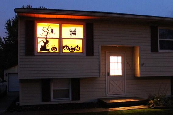Halloween Splash Skull - Wall decals for festive seasons, Halloween window stickers and decals