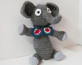 Elephant/Crochet Elephant/Amigurumi Elephant/Plush Elephant/Stuffed Elephant/Plush Toy/Stuffed Animal/Nursery Room/ Gray Elephant/Child Toy