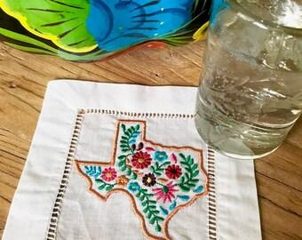 Oaxaca Texas Linen Cocktail Napkin Set