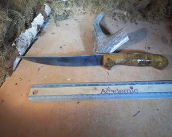 Stainless steel Fillet Knife with Ambrosia Maple wood handles