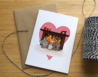 Valentine's Day Greeting Card - Choose your couple/Carte de St-Valentin - Choisi ton couple