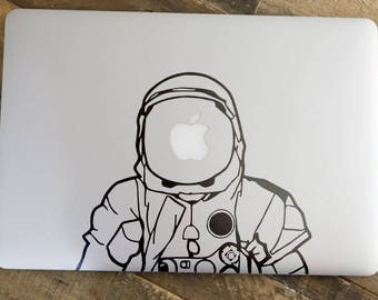 Astronaut / Cosmonaut Decal Sticker  | Apple decal sticker about Outer Space | retina macbook laptops, mac, Macbook Decal Sticker