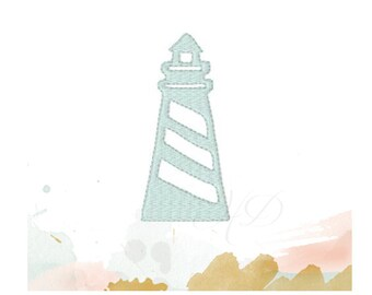 Light house Embroidery Design Machine Embroidery Font LightHouse Instant download PES BX 4x4 5x7 6x10