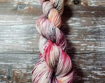 Hand dyed yarn dk weight yarn merino yarn indie dyed yarn 100g 245 yards variegated  yarn