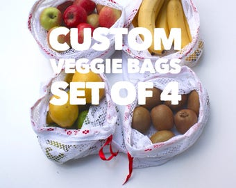 Reusable Produce Bags Produce Bags Veggie Bag Eco Friendly Kitchen Eco Mom Market Bag Fruit and Veggies Mesh Produce Bag Lace Bag Zero Waste