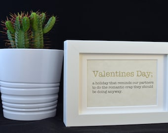 Urban Dictionary Wall Art / Valentines Day Definition / Dictionary Art / Funny Definition / Word Art