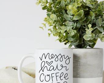 Coffee And Naps   Messy Hair Mug   Ceramic Mug   Coffee Cup   White Coffee Mug   Funny Coffee Mug   Mug For Her   Gift for sister