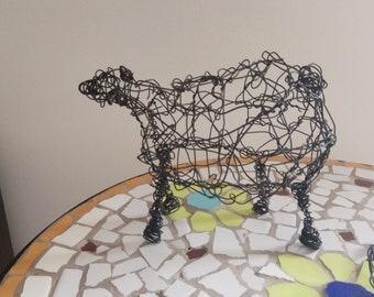 sheep wire,Animal sculpture,3D sculpture,Art  office,For home,Unique gift