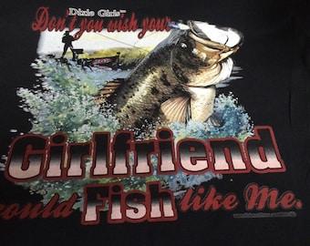 Country girl fishing t-shirt