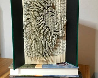 Lion head-467 pages-Cut&Fold Book Folding Pattern-Lion Pattern-Animal Pattern-Lion
