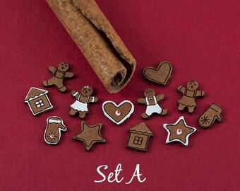 Dollhouse Gingerbread Cookies Kit - 36 pcs.