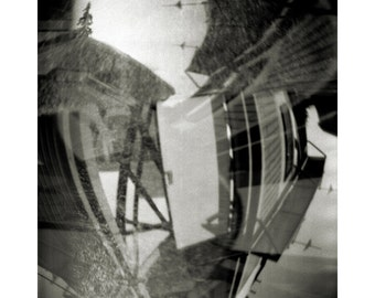 Pinhole No. 20 - B&W Abstract Photograph - Sepia Fine Art Print