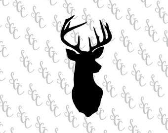 Reusable Stencil - Buck Head Silhouette - Many Sizes to Choose from!