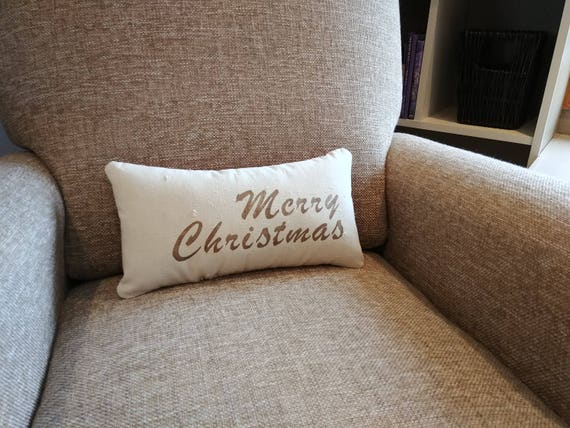 Small Merry Christmas decorative pillow
