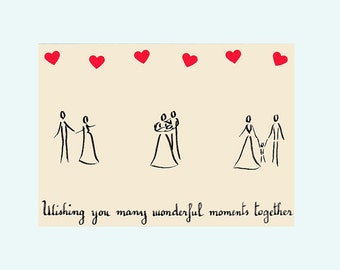 New baby card - Wishing you many wonderful moments together - by Pauline Rousseau