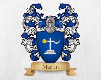Martin Family Crest - Print