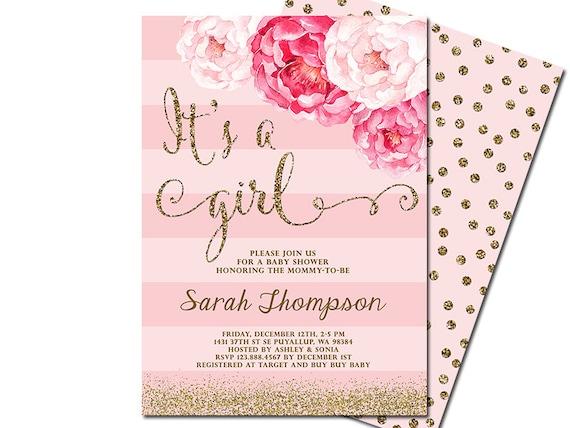 Girl invitation bino9terrains girl invitation its a girl baby shower filmwisefo