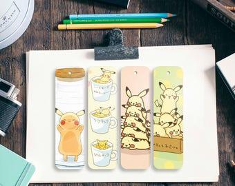 Pikachu bookmarks, 4 PCS