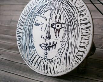 Halloween Jewelry - dia de los muertos - Calavera Necklace - Day of the Dead - Deaths Head - Goth Jewellery - Mexican Necklace