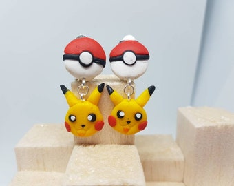 Pikachu clip ons