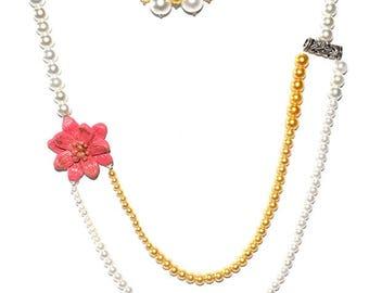 Polymer Clay Wedding Necklace and Earring Set, wedding jewellery, birthday gift