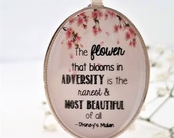 Mulan Flower that Blooms in Adversity Necklace