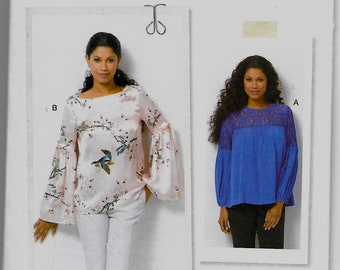 B6561 Butterick Top Sewing Pattern Sizes 14-22 Easy