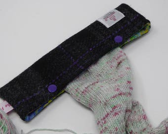 DPN Holder, Needle Cover, DPN Cozy, Needle Holder, Needle Case in Harris Tweed
