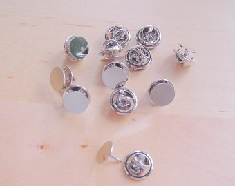 24 Pieces Tie Tack With Clutch Silvertone
