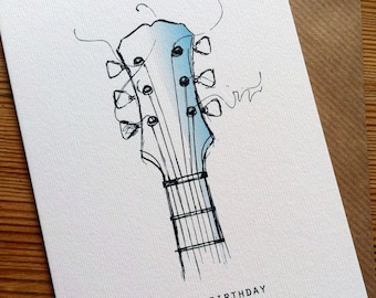 Acoustic guitar pop up guitar birthday card 3d acoustic guitar birthday card bookmarktalkfo Choice Image