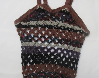 FILET CROCHET BAG
