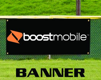 Boost Mobile Brand Official Phone Promotion Advertising Banner Sign