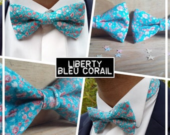 "Collection ""Liberty Blue Coral"" bowtie men-teen-child-baby"