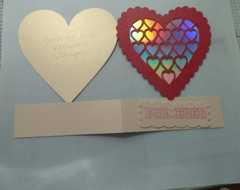 Valentine heart cut out card