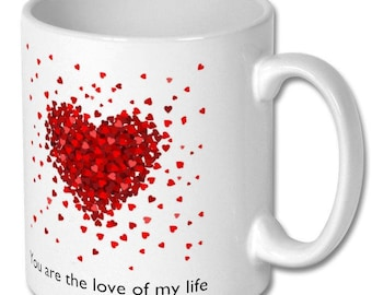 Personalised Mug 'Any Message' for Valentines Day | Perfect Gift for Girlfriend or your secret crush!