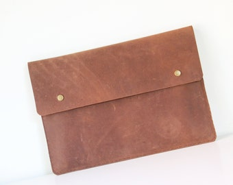 MacBook Pro 15 Case - Leather Laptop Case - Leather Portfolio - Leather Sleeve with Pocket - MacBook Pro Case - Leather MacBook Sleeve