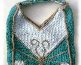 Geometric Butterfly Bag and Wrap to weave on the potholder loom pdf pattern