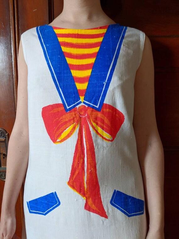 Rare Nearly Beyond Shift 20s Early Length Inspired 20's or Schiaparelli 1920s L'oeil Late Trompe Sheath Pristine 1920's Dress Knee 1930's zdfadq