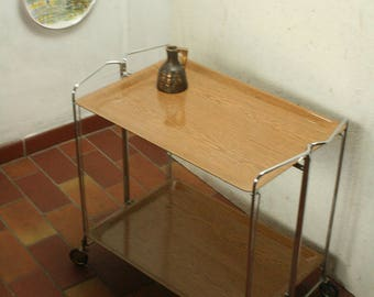 Vintage dinett like folding tea trolly