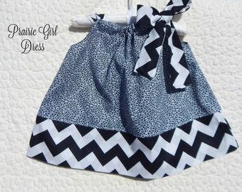 Baby Black & White Dress, Newborn Clothing, Baby Shower Gift