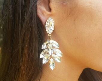 Chandelier Earrings | Crystal Earrings | Gold Chandelier Earrings